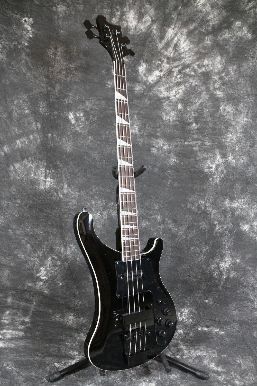 export factory made quality 4 string rikenbaker electric bass guitar guitarra glossy black 4. Black Bedroom Furniture Sets. Home Design Ideas