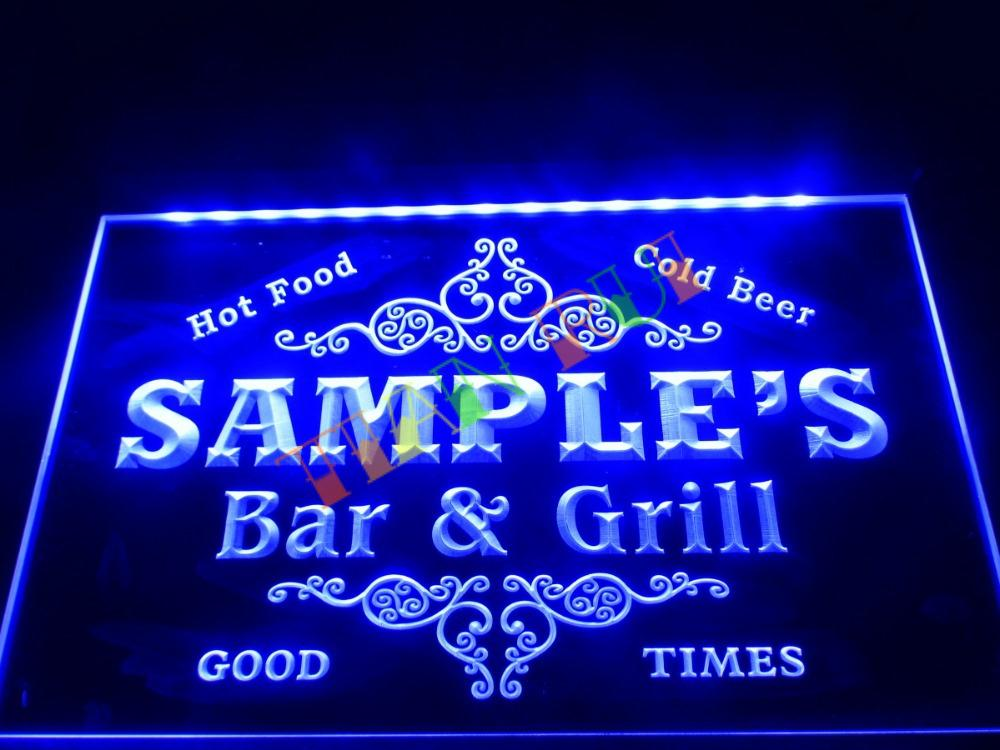 Dz058 name personalized custom family bar grill beer home gift led dz058 name personalized custom family bar grill beer home gift neon sign hang sign mozeypictures Image collections