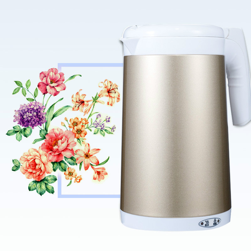 Electric kettle insulation ironing kettles Thermos electric water bottle Anti-dry Protection double layer insulated 1 7 l electric kettle for cooking water kettles anti dry protection