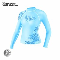 NEW Sun Protection Rash Guard Long Sleeve for Women Blue Printed Dive Skins Surfing Swimming Wet Suit Basic Wetsuit for Women