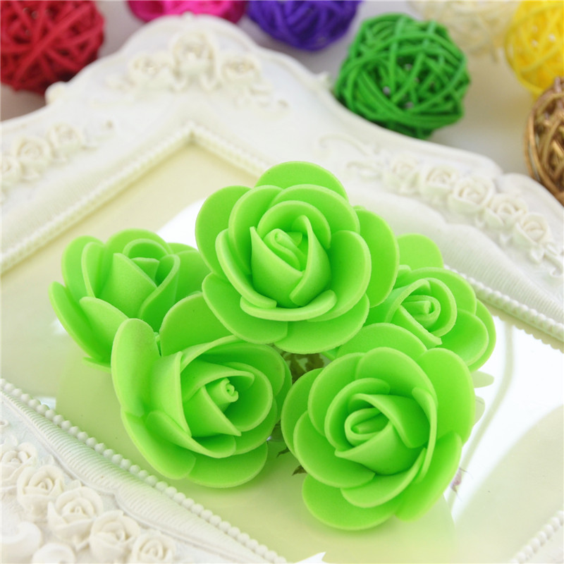 50pcs/Bag Multicolor Mini Rose Head Artificial Flowers For Wedding And Festival Party 27
