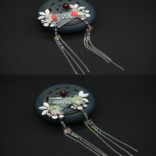 Newest silver Flower Silver Color Leaves Handmade Wedding Hairpins Bridal Hair Pins Jewelry Accessories Crystal Headpieces