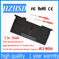 7.3v 35wh New Original A1406 laptop Battery for Apple MacBook Air 11 A1465 2012 A1370 2011 MC965 MC505