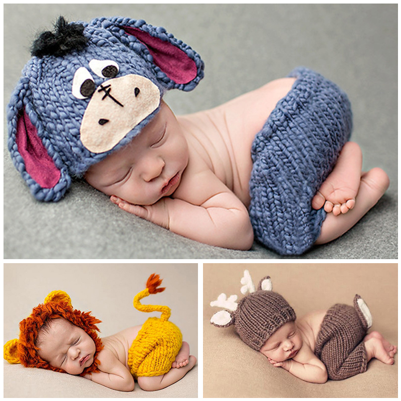 6e8db8798928 ... 2017 soft newborn baby photography props baby cap infant knitted hat  crochet girl clothes set baby ...
