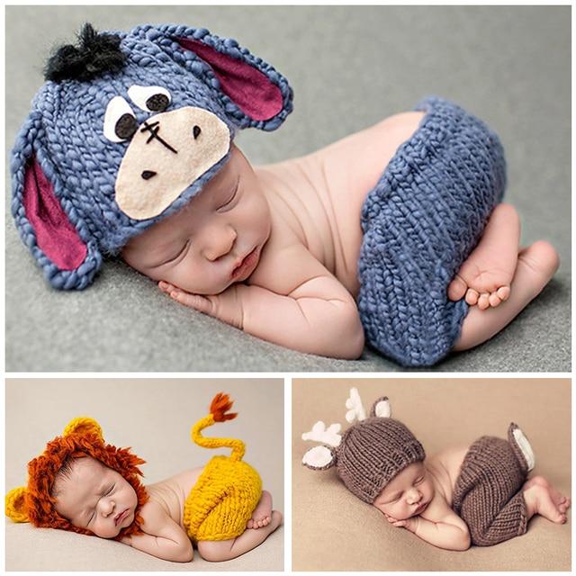 DMROLES 2018 Doux Nouveau-Né Bébé Photographie Props Bébé Chapeau Infantile  Tricoté Chapeau Crochet Fille 4f10c8d6fab