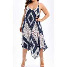 Boho Women Dress New Maxi Dress Ladies Summer  Flower Print  Sleeveless V-Neck Sexy Club Dress black leaf print v neck maxi dress