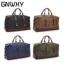 купить Large Capacity Canvas Leather Men Travel Bags Carry on Luggage Bag Weekend Shoulder Bags Multifunctional Overnight Bag Handbag по цене 1847.12 рублей