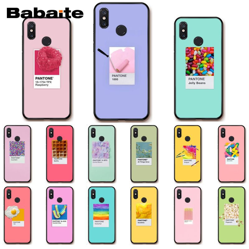 Babaite Pantone Candy Color Art Shell Phone case for Xiaomi MiA1 A2 lite F1 Redmi 6A 4X 5Plus S2 Note7 Redmi Note4