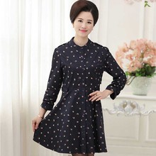 Middle-aged women's clothing fashion cotton dress   P20172085