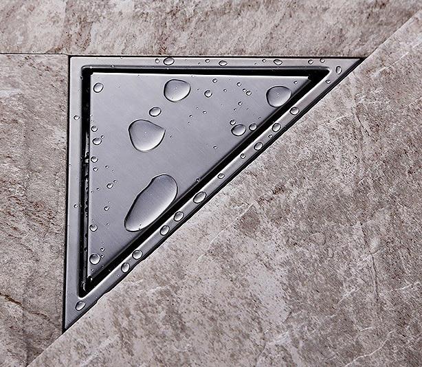③304 Stainless Steel Bathroom Triangle Tile Insert Square Shower ...