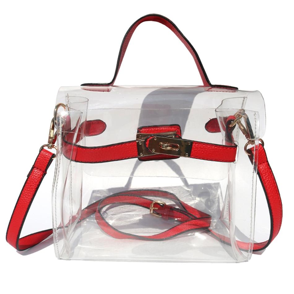 Sunny beach fashion designer clear bag women handbag small flap jpg 950x950  Plastic designer bags 8b27b9230a
