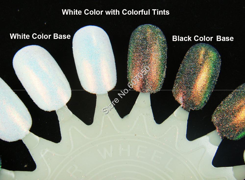 0.05MM Iridescent White with Colorful Tints Shining Cosmetic Glitter ...