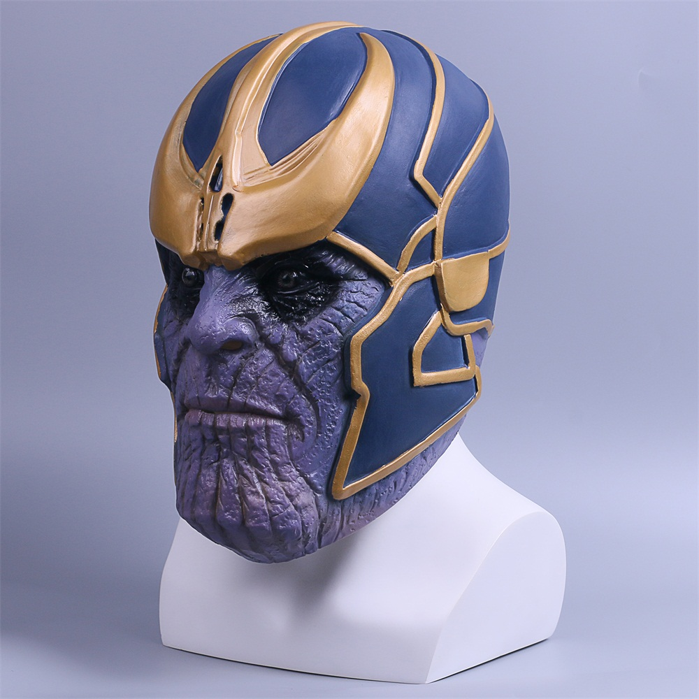 2018 Avengers Infinity War Mask Thanos Mask Cosplay Full Head Latex Super Hero Costume Halloween Party Prop (4)