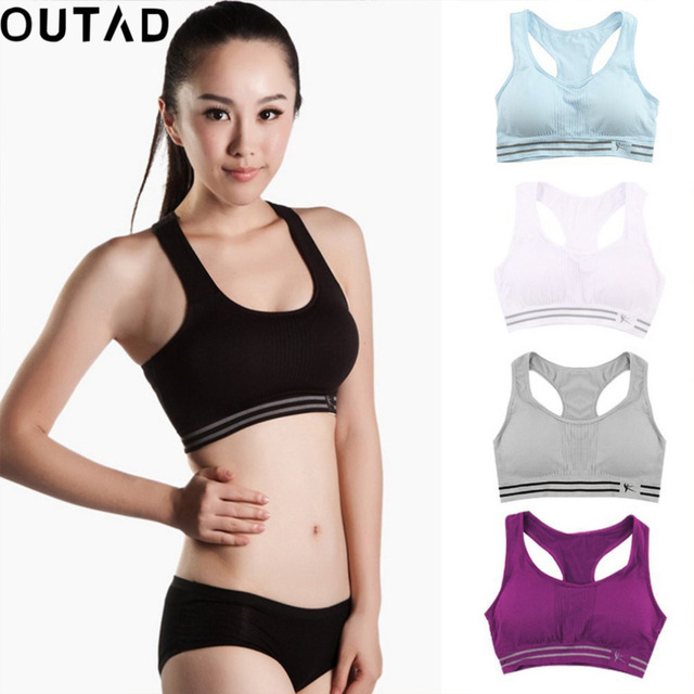 355e407bee OUTAD Women Fitness Breathable Sports Bra Anti-Bacterial Quick Drying Sport  Bras Top Padded for Women Running Yoga Gym Training