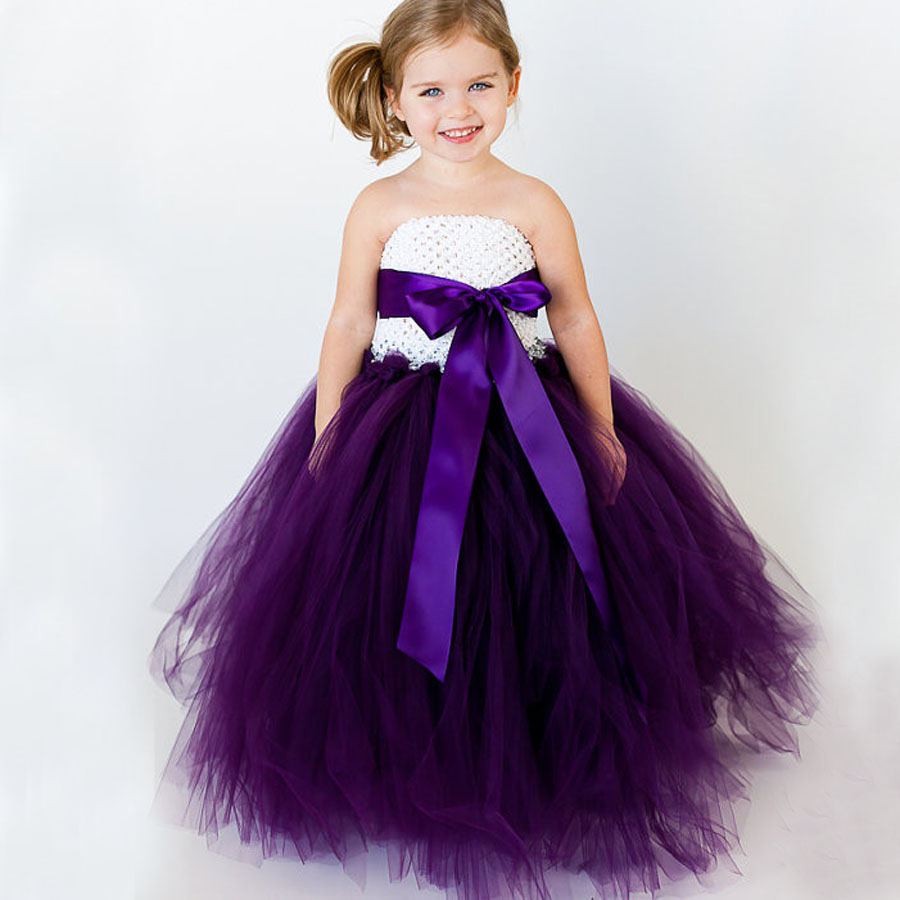 New Baby Girl Tutu Dress Ribbow Bow Kids Children Princess Dress for Wedding Birthday Party Photo