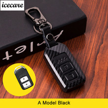 Leather Carbon Fiber Car Remote Key Case Chain Keyless Fob Cover For Honda Civic 2017 Accord Fit CRV CR-V XRV Crosstour HRV JAZZ car cover for honda accord 7 8 9 civic crv cr v fit vezel jazz 2017 2016 2015 2014 2013 waterproof sun protection cars covers