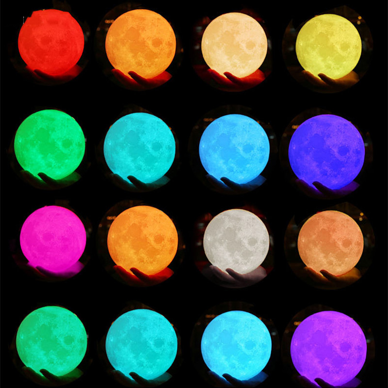 Novelty 3D Printing Customized Moon Lamp with USB Charging as Night Light for Gift 4