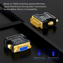 Video Converter SAMZHE 24+5 DVI-I Male to VGA Female Adapter Video Converter HDTV LCD Moniator Adapter DVI to VGA