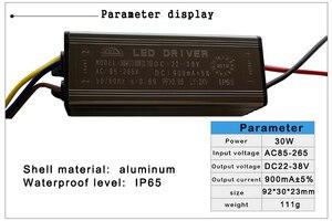 Image 4 - LED נהג 10W 20W 30W 50W 70W מתאם שנאי AC85V 265V כדי DC22 38V IP65 אספקת חשמל 300mA 600mA 900mA 1500mA 2100mA