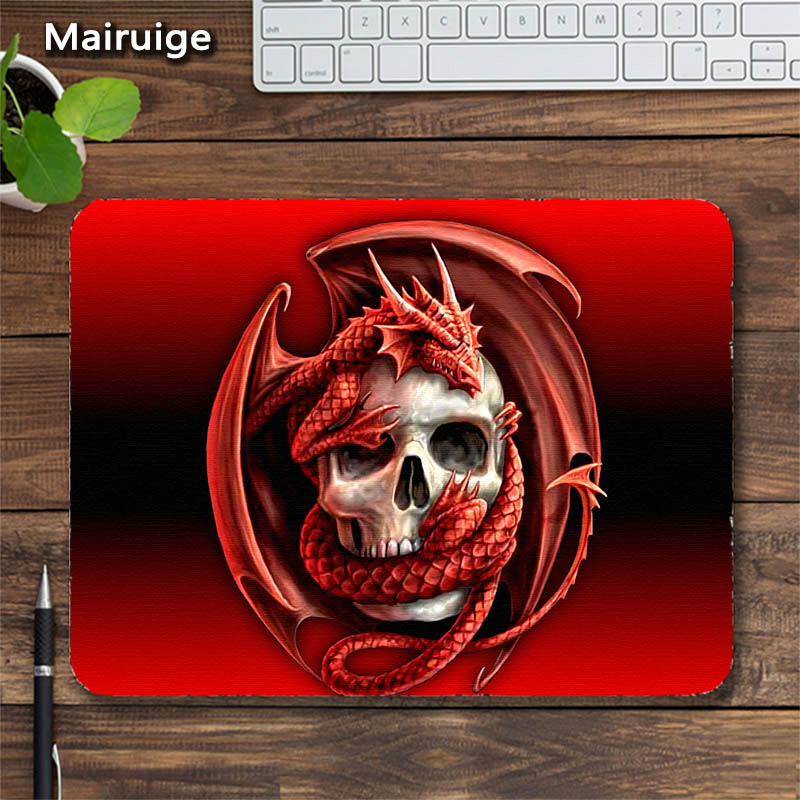 Mairuige The Dark Knight Mice Mousepad Head Ghost Skeleton Pattern Diy Mousepad Laptops Gaming Mat PadMouse Rubber Table Mat