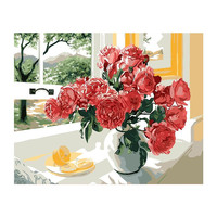 Gorgeous Flowers Canvas Paintings By Hand No Frame Home Decoration Oil Painting Pictures By Numbers Scenery