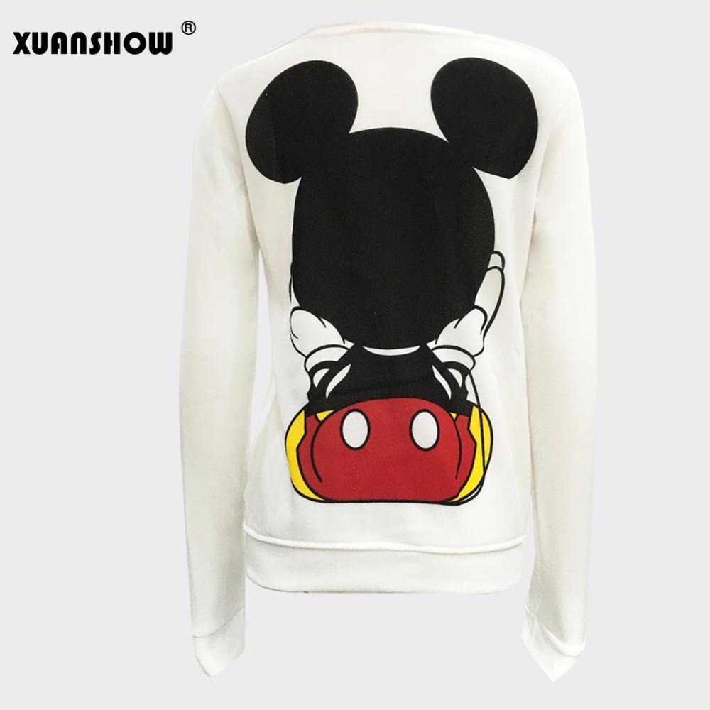 XUANSHOW 19 Women Sweatshirts Hoodies Character Printed Casual Pullover Cute Jumpers Top Long Sleeve O-Neck Fleece Tops S-XXL 7