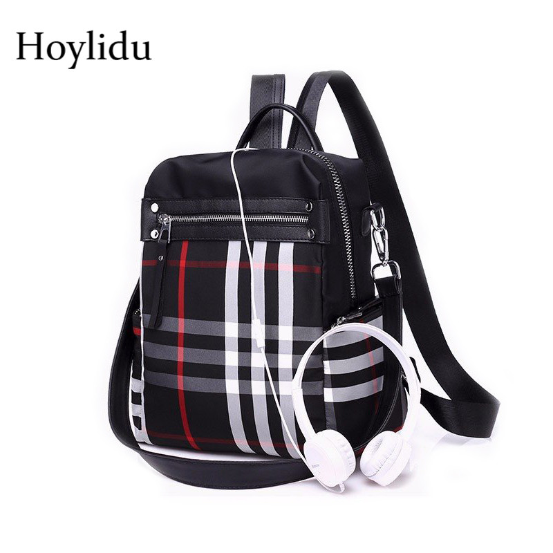 Waterproof Oxford Laptop Backpack Female Bagpack