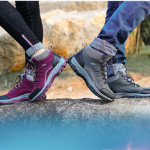 Outdoor Hiking Shoes Man Hiking Boots Warm High Top Mountain Climbing Camping Shoes Trekking Hunting Footwear clorts hiking shoes for men outdoor hiking boots high top waterproof trekking shoes male breathable climbing shoes hkm 823a b f