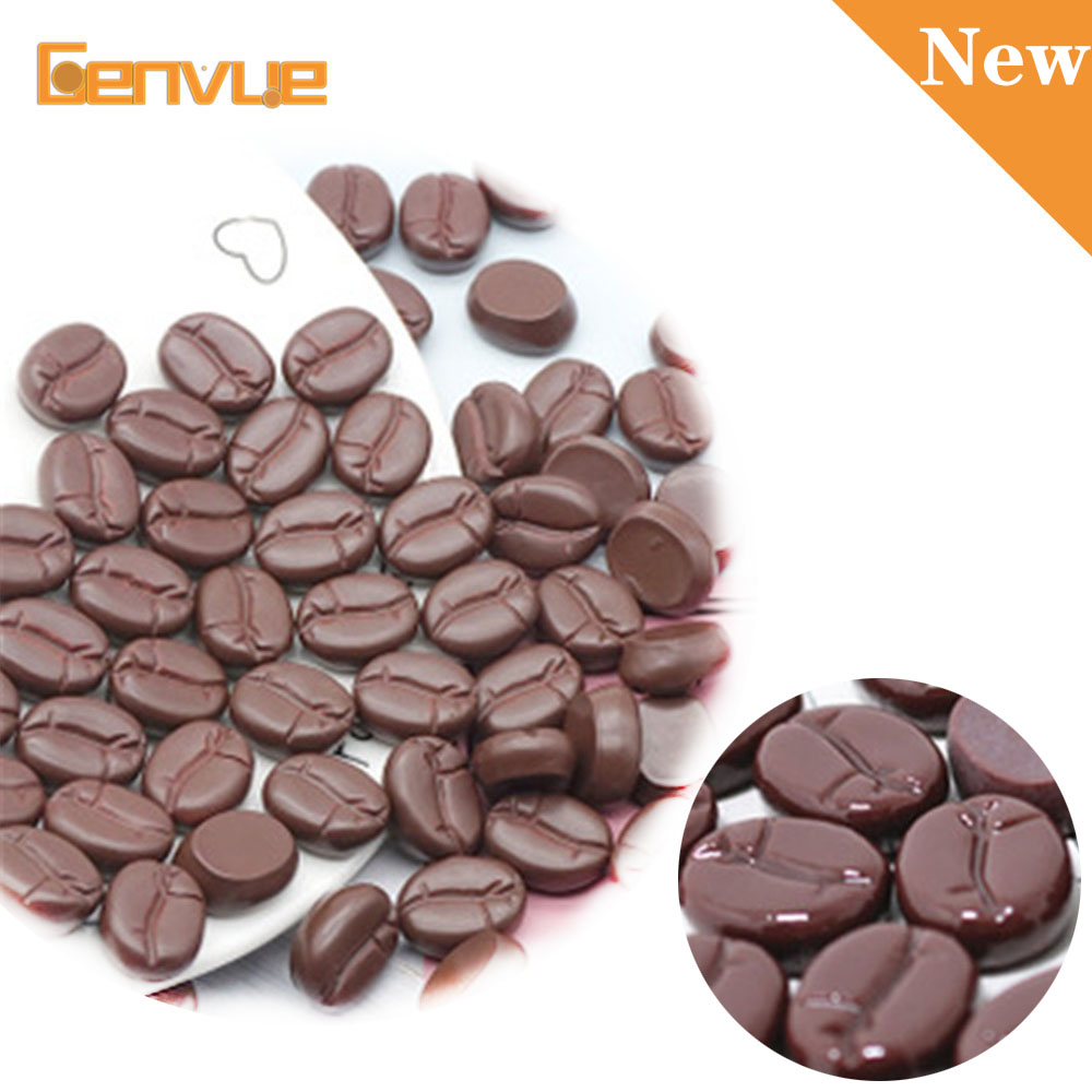 10pcs Simulated Coffee Beans Bead Resin Addition For Charms Slime Decoration Supplies DIY Accessories Clay Making Gifts For Kid