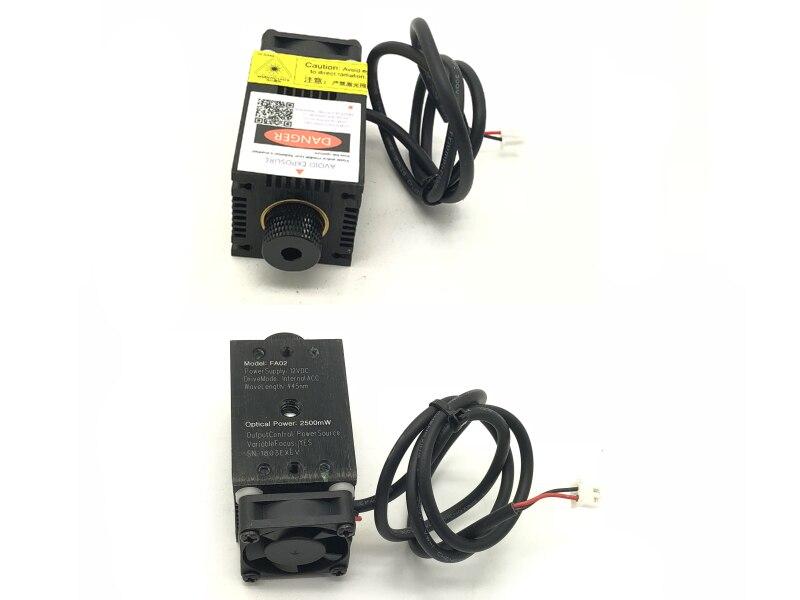 2,5w didelės galios 450NM fokusavimo mėlynojo lazerio modulio - Medienos apdirbimo mašinų dalys - Nuotrauka 2