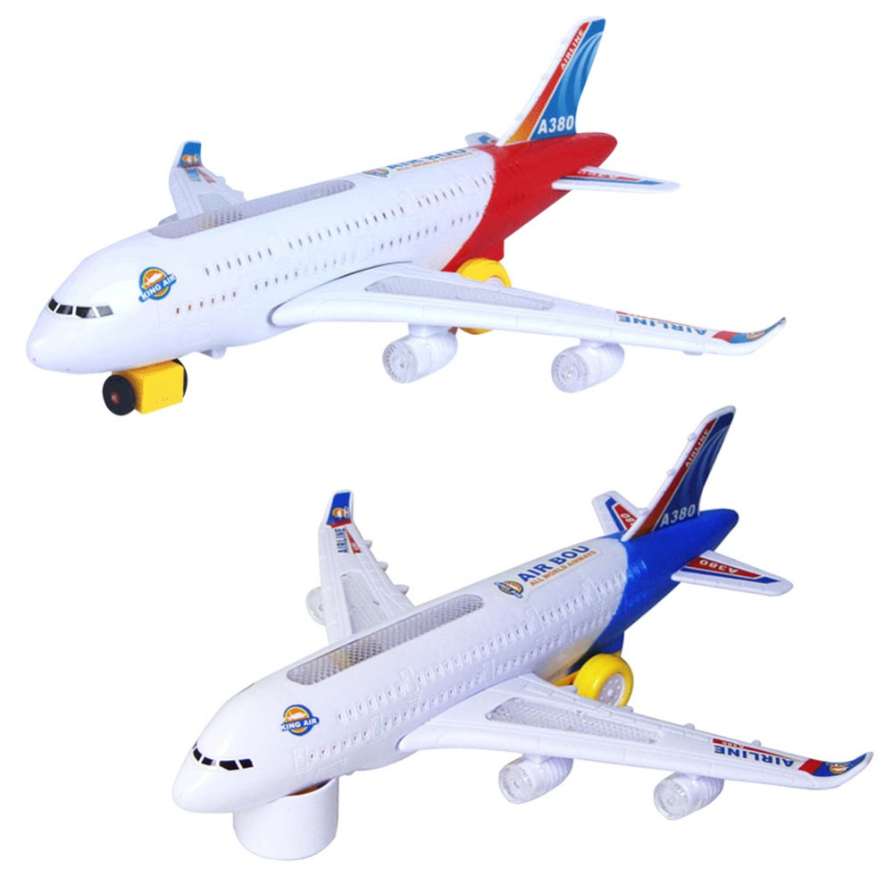 VKTECH Electric Lights Aircraft Airplane Toys for Children