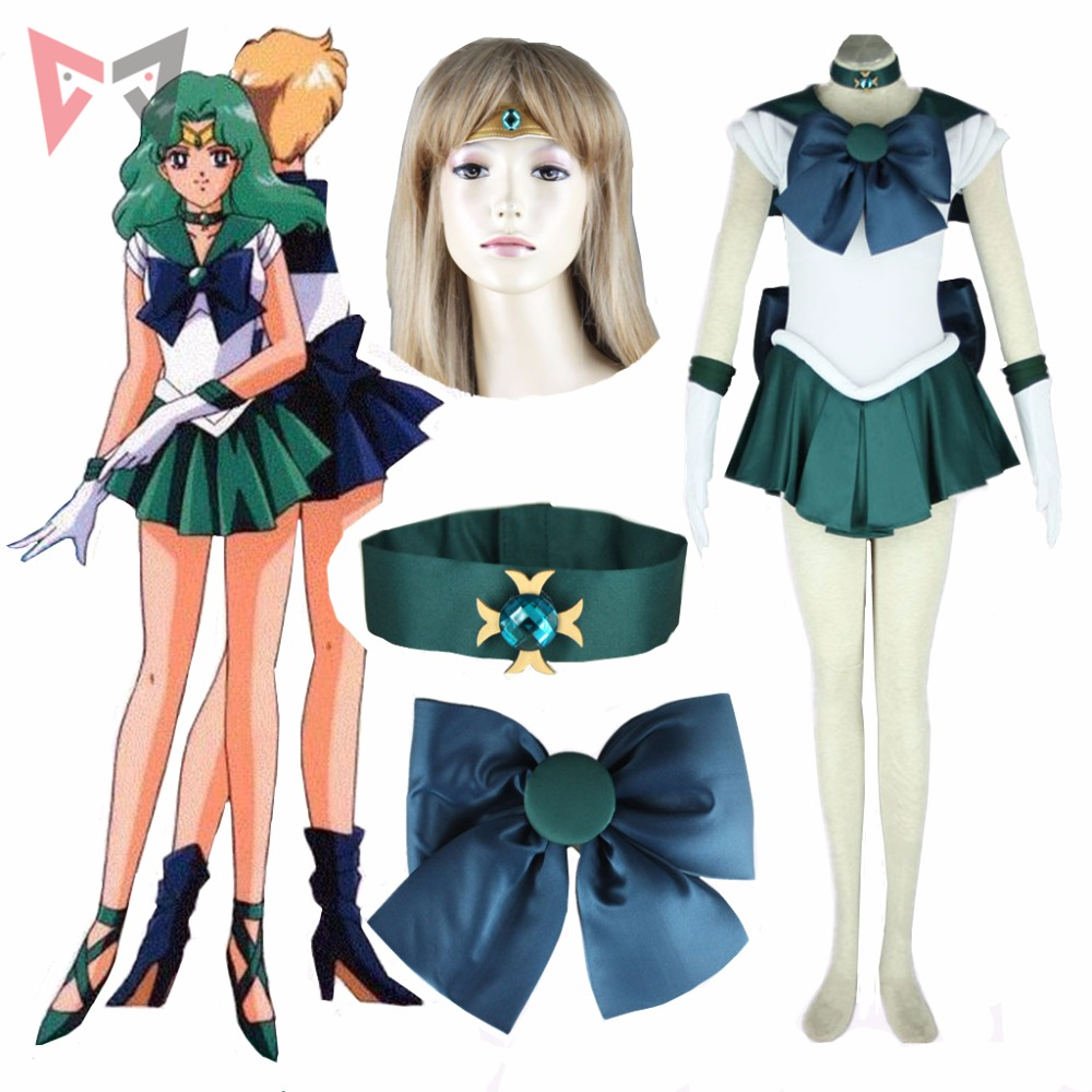Athemis Anime Sailor Moon Michiru Kaioh / Sailor Neptune Costume Cosplay su misura Abito di alta qualità