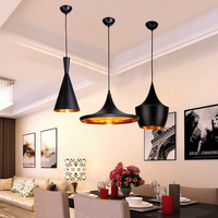 Black/White/Gold ABC Pendant Lights(Tall,Fat and Wide)Tom Musical Instrument Hanging Pendant Lamp Light For Restaurant Lamp Bar