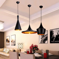Black White Gold ABC Pendant Lights Tall Fat And Wide Tom Musical Instrument Hanging Pendant Lamp