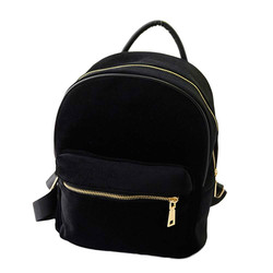 Gold velvet backpack women fashion design backpack small bag rucksack girls school book shoulder bag plecak.jpg 250x250