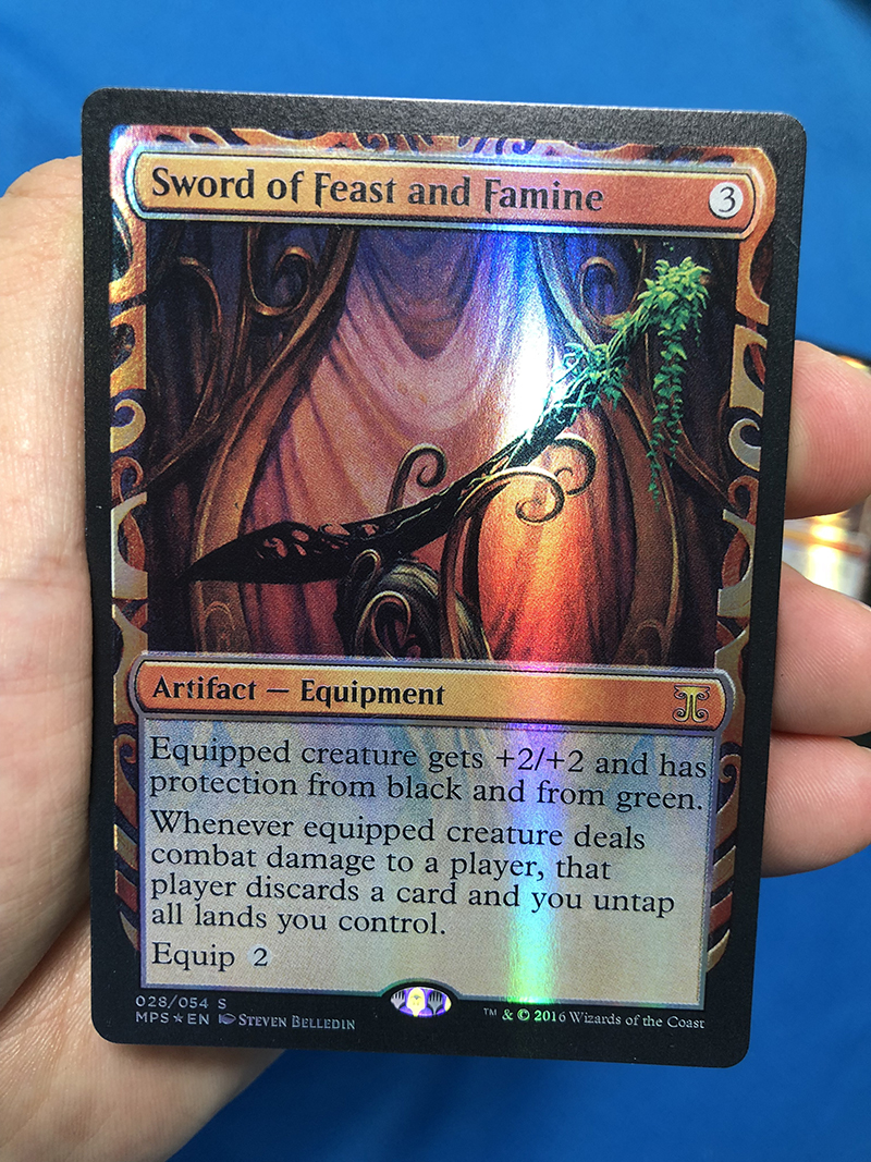 Sword Of Feast And Famine Kaladesh Inventions Foil Magician ProxyKing 8.0 VIP The Proxy Cards To Gathering Every Single Mg Card.