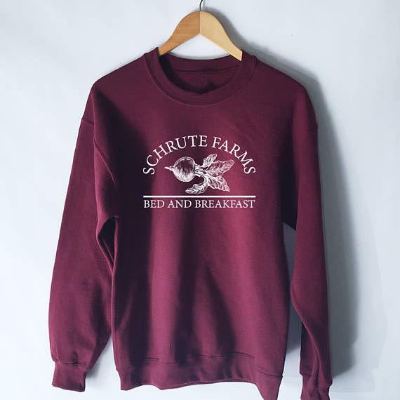 ce9e0ae24 Women Tumblr Sweatshirt Schrute Farms Hoodie The Office Dwight Schrute  Dunder Mifflin Michael Scott Hoodies Girls Sweater Tops