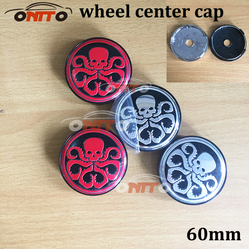 4pc 60mm hydra marvel universe aluminum wheel center hub sticker squidward car wheel center cap badge car styling for v w aud in hub caps from automobiles