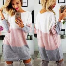 27f57c71c Nuevo suéter de maternidad vestido de las mujeres ropa 2018 de manga larga  a rayas de embarazo Vestidos Embarazada traje Vestido.
