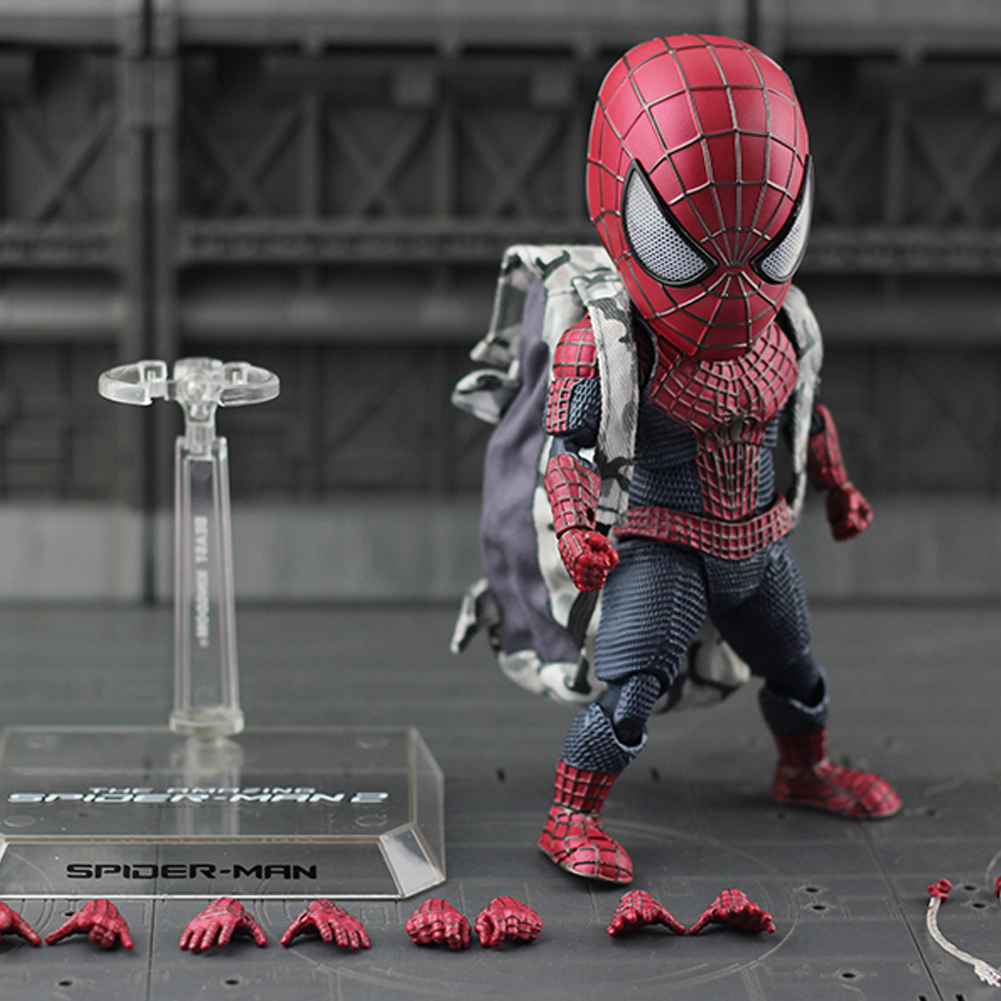 Egg Attack Action The Spiderman 18cm Spider-Man Homecoming Action Figure Model Toy figma x man series spiderman figure no 001 revoltech deadpool with bracket no 002 revoltech spider man action figures