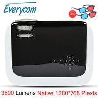 Everycom BL68 видео проектор HD 720 P 3500 люмен Pico портативный проектор мультимедиа HDMI USB проекторы для домашнего кинотеатра Beamer