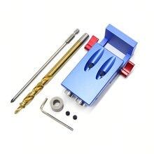 Mini Kreg Style Pocket Hole Jig Kit System For Wood Working Step Drill Bit & Accessories Wood Work Tool Set