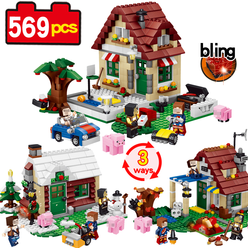 569pcs Four Season House 3 ways My Worlds Building Blocks Educational Brick Toy Figures compatible Lego Action Christmas Gifts oh my god it s electro house volume 4