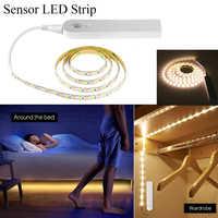 Wireless Motion Sensor LED Strip lamp 1M 2M 3M USB LED Strip Use In TV Under Bed Cabinet Closet Wardrobe Stairs Door Night light