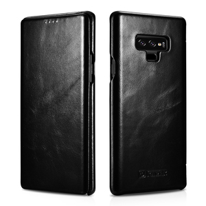 Image 4 - Slim Retro Koeienhuid Lederen Flip Case voor Samsung Galaxy Note9 Bedrijvengids Real Leather Smart Telefoon Cover voor Samsung Note8