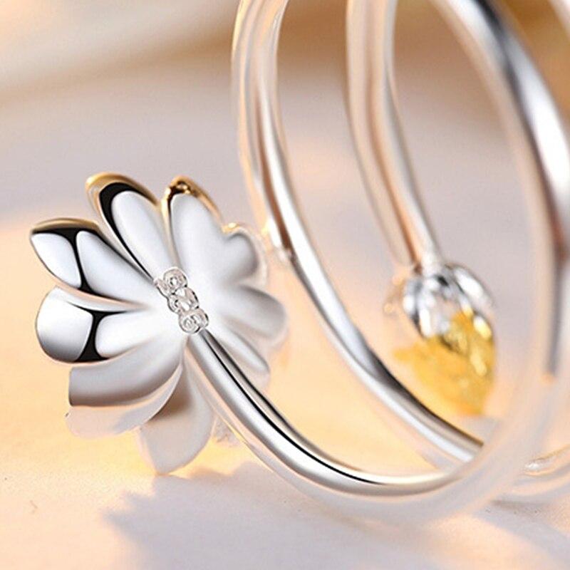 Women's Silver Lotus Ring 4