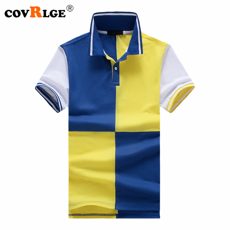 Covrlge Fashion Clothing New Men   Polo   Shirt Men Business & Casual Solid Male   Polo   Shirt Short Sleeve Breathable Clothing MTP063
