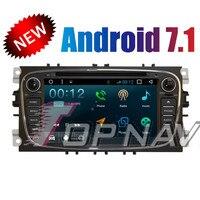 Topnavi 4 ядра Android 7,1 DVD мультимедиа плеер для Ford MONDEO 2011 2007 Авторадио gps навигации аудио стерео 2 Din