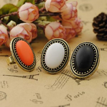 Korean jewelry wealthy personalized fashion retro oval Crystal rings jewelry wholesale