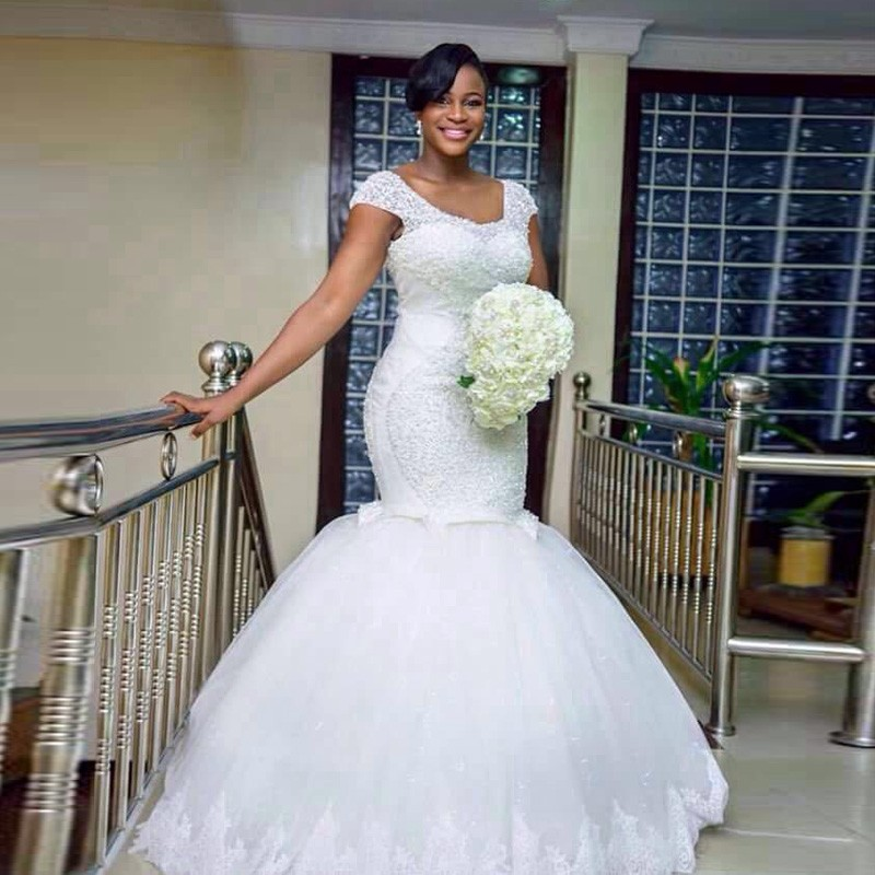 African Wedding Dresses Mermaid Sexy